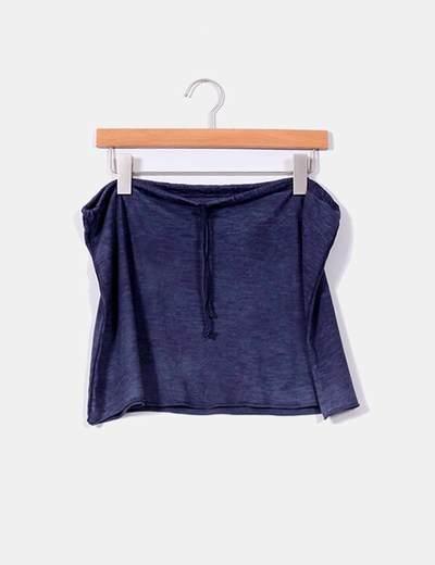 Falda azul marina NoName