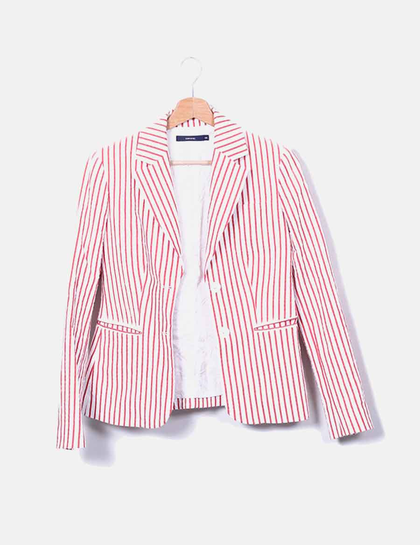 d245d633678 y rojas de con rayas blanca Mujer Abrigos online Chaquetas Cortefiel Blazer  baratos 8twYSqU ...
