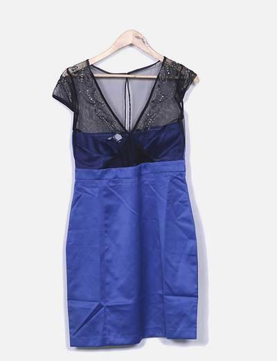 Suiteblanco Blaues Kleid Kombiniert Mit Pailletten Rabatt 76
