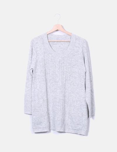 Vestido de punto gris NoName