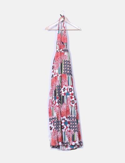 NoName Maxi gedrucktes Kleid Blumen Schwanz Saum (Rabatt 74 %) - Micolet 82cffe9ddb