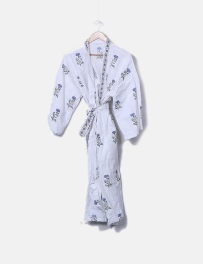 Kimono con print floral
