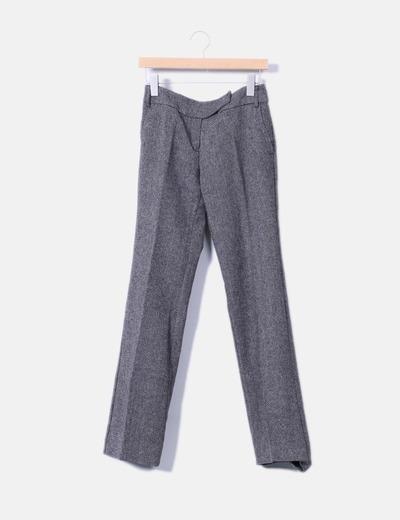 Pantalón gris jaspeado Mango