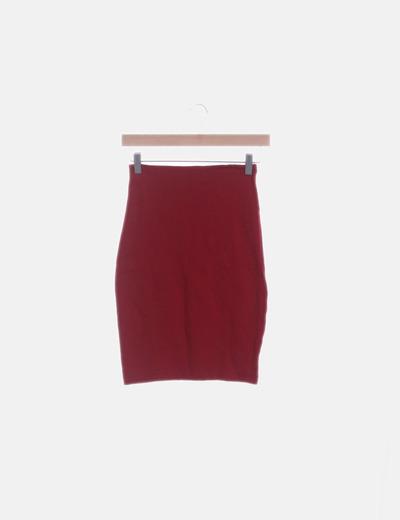Minifalda roja elástica
