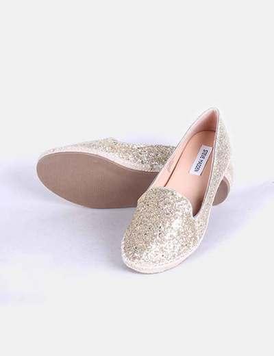 Slippers glitter dorado