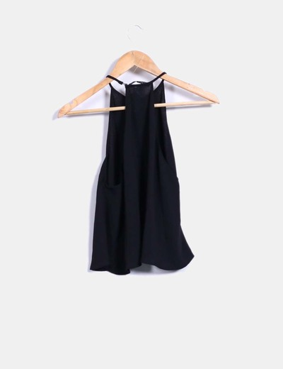 1446847b9c Zara Blusa negra evasé (descuento 45%) - Micolet