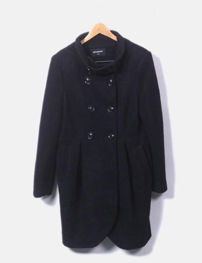 Abrigo negro de paño