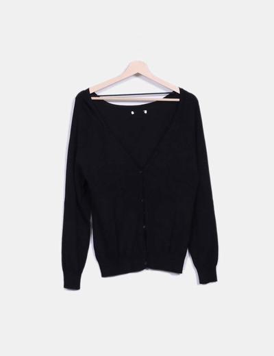 Cárdigan tricot negro NoName