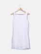 Vestido de gasa blanco con volante New Look