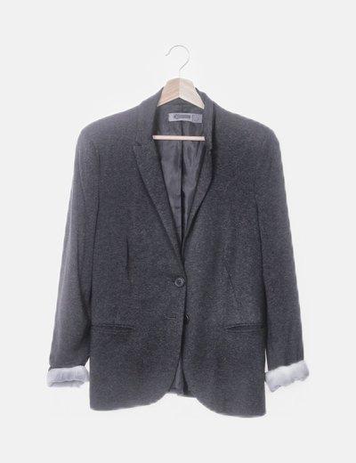 Blazer tricor gris oscura