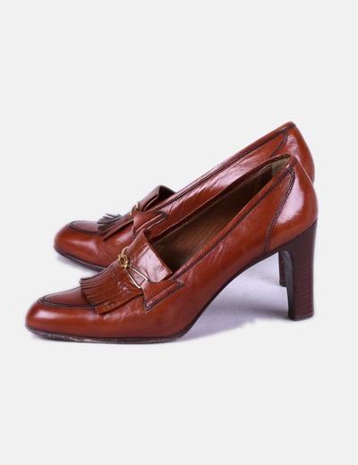 Zapato Con Marrón Marrón Flecos Zapato Con N8yvm0wnOP