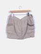 Mini falda beige pedrería  Suiteblanco