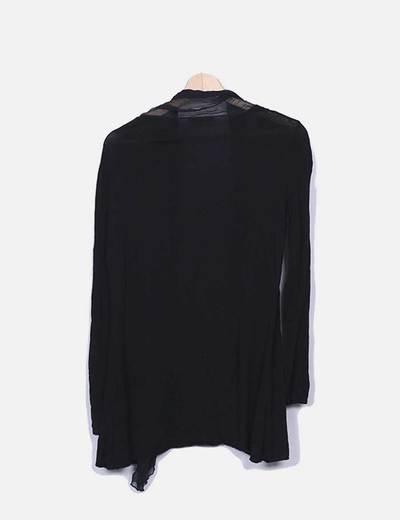 Cardigan negro combinada