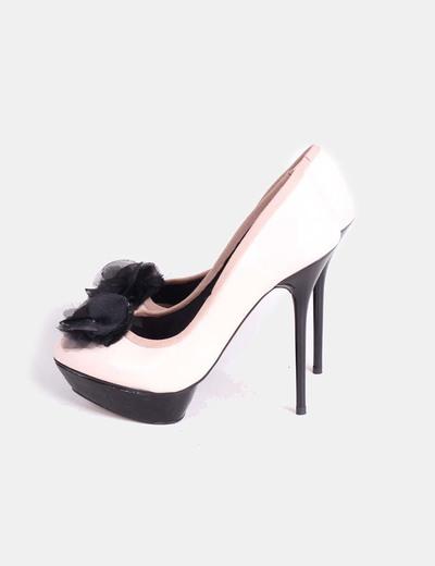 Zapatos Tacon Rosa Claro