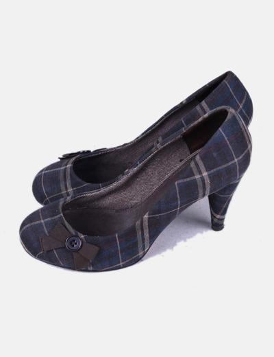 Zapato print cuadros con puntera cuadrada Pull&Bear