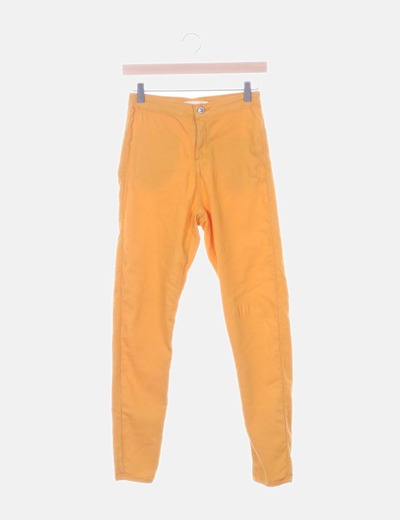 Jegging high waist naranja