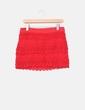 Mini falda roja crochet Suiteblanco
