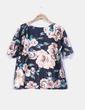 Sudadera negra estampado floral bordada Swallow