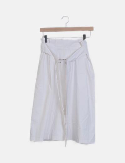 Falda maxi papperbag blanca
