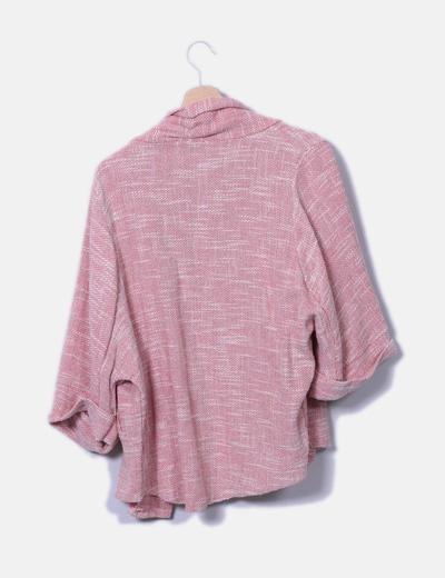 Chaqueta tricot morada combinada %281%29
