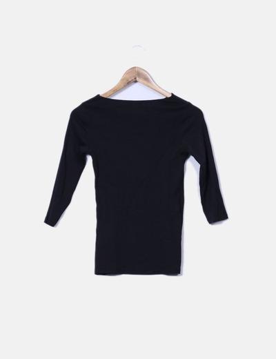 Negra Camiseta Manga Francesa Zara Camiseta Negra Camiseta Manga Francesa Zara ArSZYwSqO8
