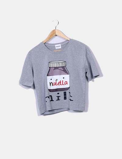 Janwiener Graues Nutella-T-Shirt (Rabatt 57 %) - Micolet 82853d0f73