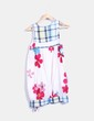 Vestido blanco floral texturizado Peace And Love