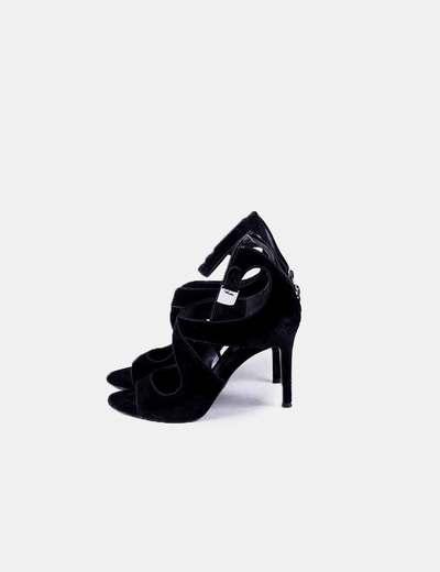 Black velvet sandals Ralph Lauren