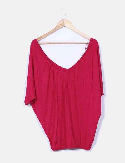 Camiseta roja oversize Bershka