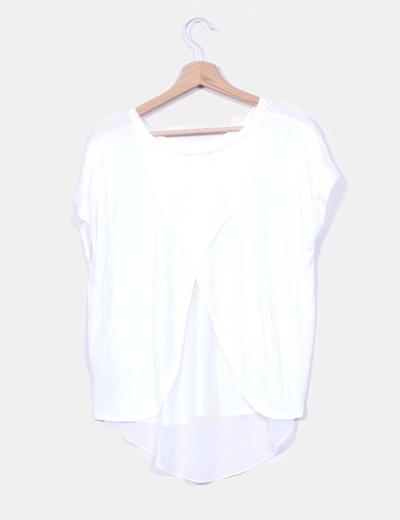 Camiseta blanca manga corta espalda gasa