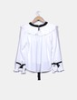 Blusa blanca plisada Chicwish