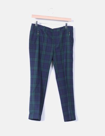 dcc2417ada Zara Pantalón chino cuadros (descuento 83%) - Micolet