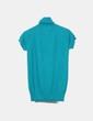 Top tricot verde cuello vuelto Zara
