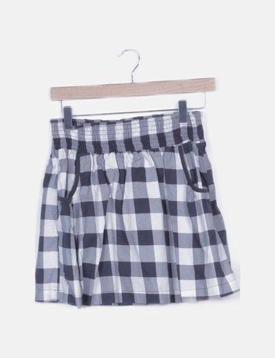 Mini falda fluida cuadros