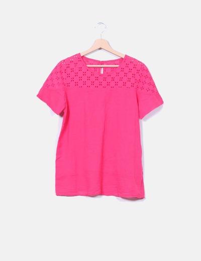 Blusa rosa guipur NoName