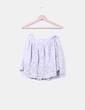 Falda mini gris calada Topshop