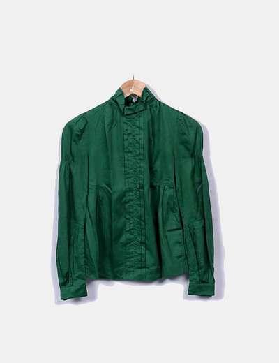 Blusa verde manga larga
