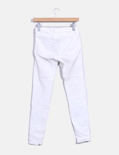 Pantalón blanco encerado
