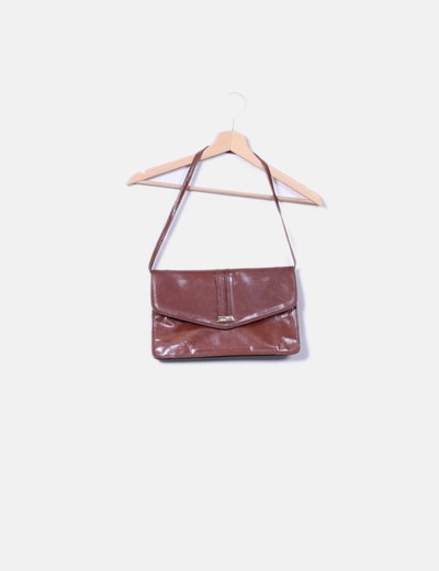Bolso marron de polipiel