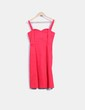 Vestido rojo escote corazón H&M