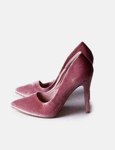 Stiletto terciopelo rosa