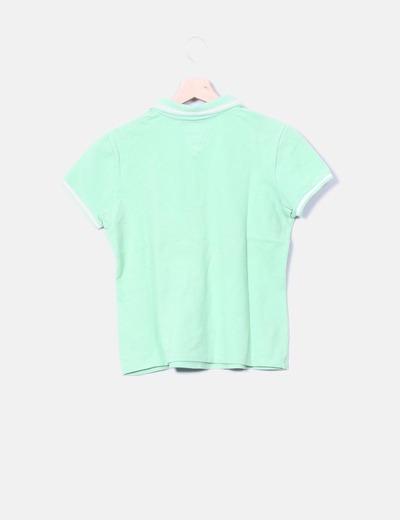 Polo verde manga corta