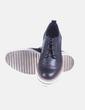 Zapatos blucher negros con plataforma Stradivarius