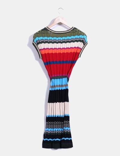 Vestido tricot multicolor