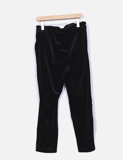 Pantalon baggy terciopelo negro