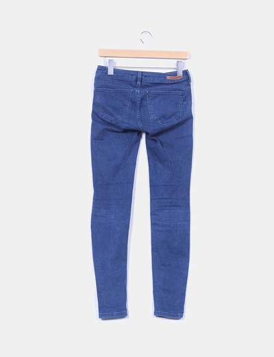 Pantalon denim oscuro elastico