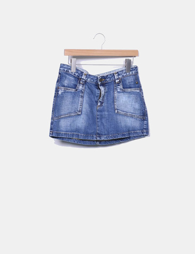Mini-jupe denim Chevignon
