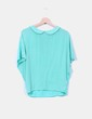 Blusa verde combinada con solapa Zara