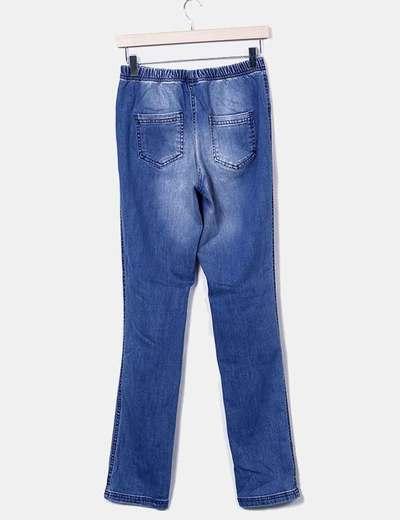 Legging denim azul con rotos