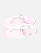 Sandales roses pâle plastique avec strass Suiteblanco